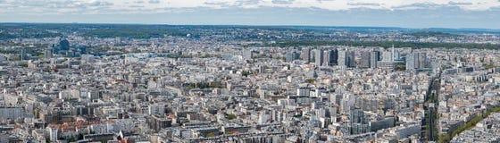 Panorama di vista aerea di paesaggio urbano di Parigi Fotografia Stock Libera da Diritti