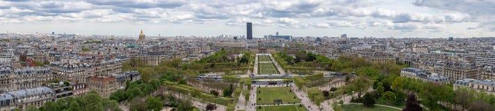 Panorama di vista aerea di paesaggio urbano di Parigi Immagine Stock Libera da Diritti