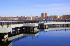 Panorama di Votkinsk - repubblica Udmurt, Russia immagini stock libere da diritti