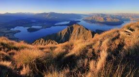 Panorama di Wanaka del lago fotografia stock libera da diritti