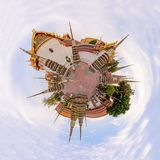 Panorama 360 di Wat Phra Chettuphon Wimon Mangkhalaram Ratchaworamahawihan Wat Pho immagini stock libere da diritti
