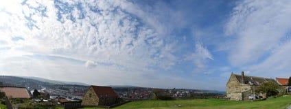 Panorama di Whitby Town, North Yorkshire, Regno Unito Fotografie Stock