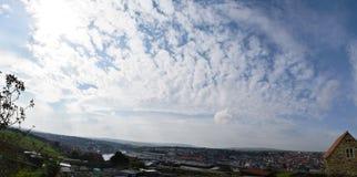 Panorama di Whitby Town, North Yorkshire, Regno Unito Fotografie Stock Libere da Diritti