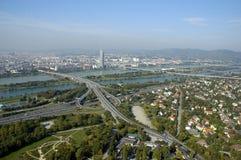 Panorama di Wien Fotografia Stock Libera da Diritti