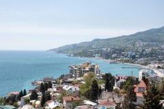 Panorama di Yalta fotografie stock