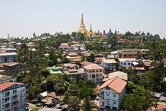Panorama di Yangon Fotografia Stock Libera da Diritti