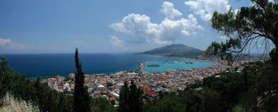 Panorama di Zacinto, isola di Zacinto, Grecia Fotografia Stock