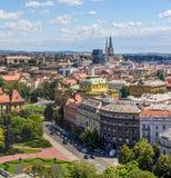 Panorama di Zagabria Immagine Stock
