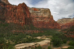 Panorama di Zion fotografie stock