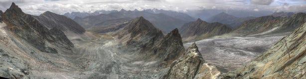 Panorama di Zugspitze Alpspitze Jubilaumsgrat Immagine Stock