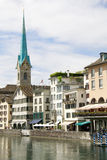 Panorama di Zurigo Fotografia Stock Libera da Diritti