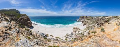 Panorama of Diaz Beach at Cape Point Royalty Free Stock Photography
