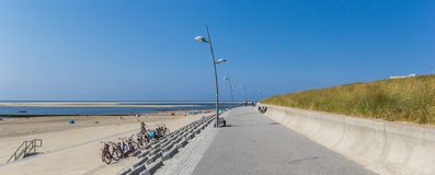 Panorama of a along the sea on the island of Borkum. Germany stock photos