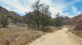 Panorama of Dirt Road in California Stock Image