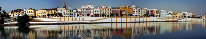 Panorama of the district of Triana Royalty Free Stock Photos
