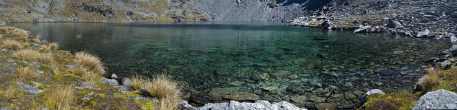 Panorama do alto do lago fotografia de stock royalty free