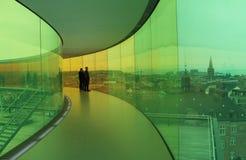 Panorama do arco-íris em ARoS Art Museum, Aarhus, Dinamarca Imagem de Stock Royalty Free
