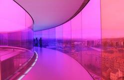 Panorama do arco-íris no museu de arte de ARoS, Dinamarca Fotografia de Stock Royalty Free