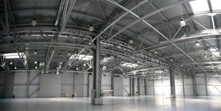 Panorama do armazém do hangar Foto de Stock Royalty Free