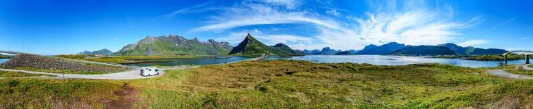 Panorama do arquipélago de Lofoten fotos de stock royalty free