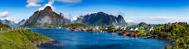 Panorama do arquipélago de Lofoten foto de stock royalty free