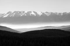 Panorama do Bw Pirin fotografia de stock royalty free