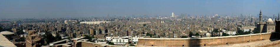 Panorama do Cairo fotografia de stock
