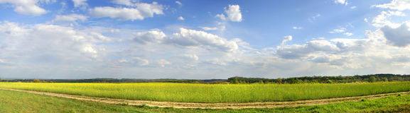 Panorama do campo Fotografia de Stock Royalty Free