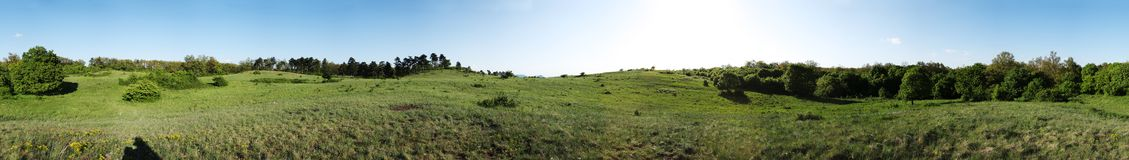 Panorama do campo Fotos de Stock Royalty Free