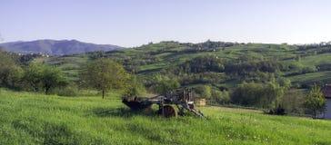 Panorama do campo de Oltrepo Pavese Imagem da cor Fotos de Stock