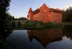 Panorama do castelo de Cervena Lhota Fotos de Stock Royalty Free