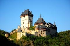 Panorama do castelo de Karlstejn Imagens de Stock Royalty Free