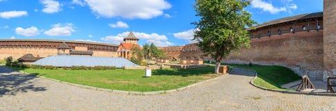 Panorama do castelo de Lyubart Lutsk ucrânia fotos de stock