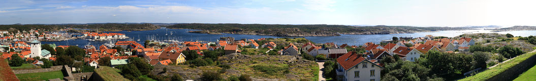 panorama do castelo de Marstrand Foto de Stock Royalty Free