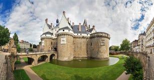 Panorama do castelo de Nantes imagens de stock