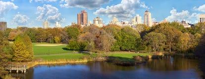 Panorama do Central Park no outono fotos de stock royalty free
