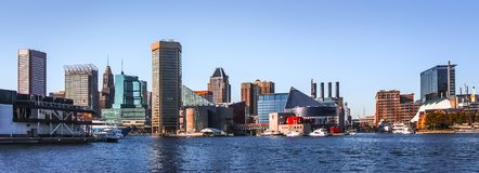 Panorama do centro da skyline de Baltimore fotos de stock royalty free