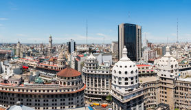 Panorama do centro de Buenos Aires Fotos de Stock Royalty Free