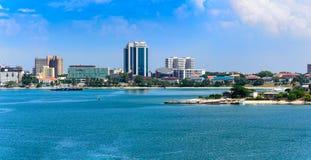 Panorama do centro de cidade de Dar es Salaam Imagens de Stock Royalty Free
