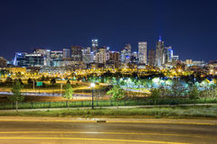 Panorama do centro de Denver, Colorado Fotos de Stock