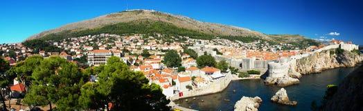 Panorama do centro histórico de Dubrovnik Fotografia de Stock