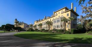 Panorama do clube da ilha de Jekyll foto de stock royalty free
