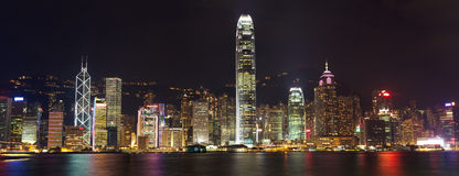 Panorama do console de Hong Kong Foto de Stock Royalty Free