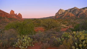 Panorama do deserto de Sedona Imagem de Stock