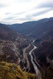 Panorama do desfiladeiro do rio do ` s de Iskar foto de stock