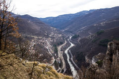 Panorama do desfiladeiro do rio do ` s de Iskar Imagens de Stock Royalty Free