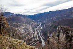 Panorama do desfiladeiro do rio do ` s de Iskar Fotos de Stock Royalty Free