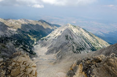 Panorama do dia da montanha de Pirin, Bulgária Imagem de Stock