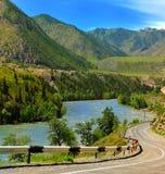 Panorama do distrito da montanha Imagens de Stock