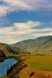 Panorama do distrito da montanha Imagem de Stock